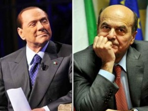 Berlusconi and Bersani