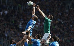 Leading from the front, Sergio Parisse wins another Irish lineout